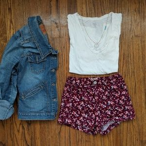 Pants - ☀️3 for 30☀️ SO Floral High Waisted Shorts